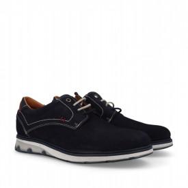 Pantofi sport din piele naturala MARIO Blue