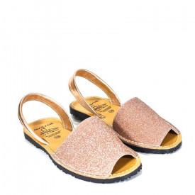 Sandale din piele AVARCA SAND Somon