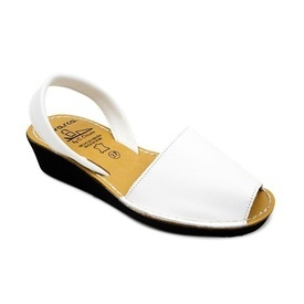 Sandale din piele AVARCA  WEDGE White