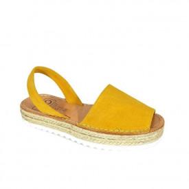 Sandale din piele intoarsa, AVARCA ALEGRIA Yellow