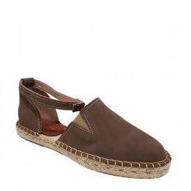 Sandale din piele intoarsa naturala CARLA Arena