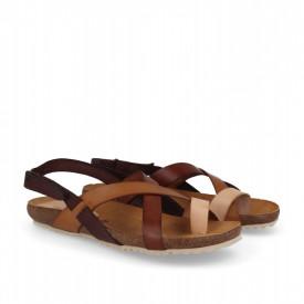 Sandale din piele LELIA maro