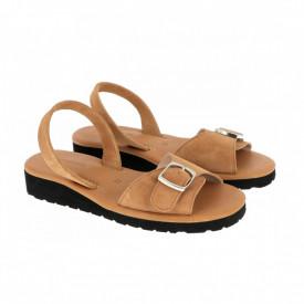 Sandale din piele MINORQUINES Gel VELOUR Natural