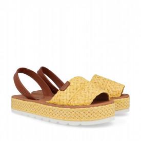 Sandale din piele naturala AVARCA MAROC Yellow