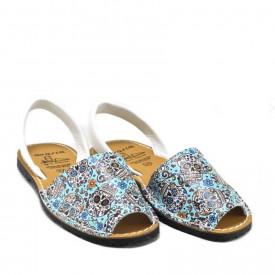 Sandale din piele naturala, AVARCA SKULLS White