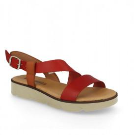 Sandale din piele naturala DANA Red