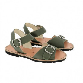 Sandale din piele naturala MINORQUINES BUCKLE Army
