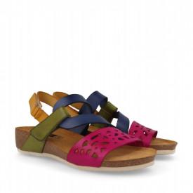 Sandale din piele naturala RIVIERA Pink