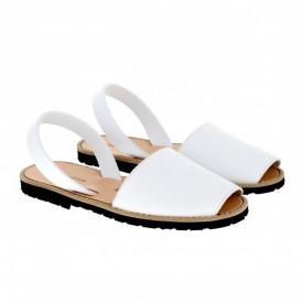 Sandale din piele naturala AVARCA MINORQUINES White
