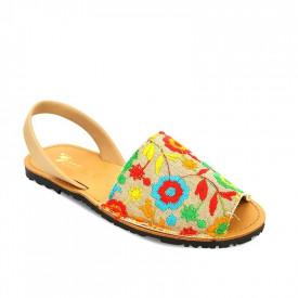 Sandale de dama din piele naturala AVARCA RUSTIC Multicolor