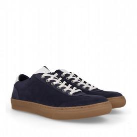 Pantofi sport din piele naturala SMITH Blue
