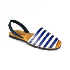 Sandale de dama din piele naturala, AVARCA MARINERO Blue