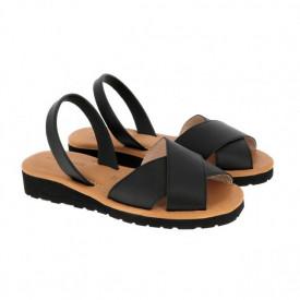 Sandale din piele MINORQUINES Gel MURO Black