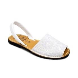 Sandale din piele naturala, AVARCA GLITTER White