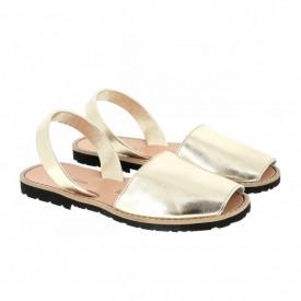 Sandale din piele naturala AVARCA MINORQUINES Metal Gold