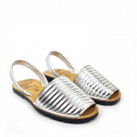Sandale din piele naturala AVARCA PUFFY SILVER