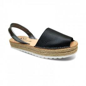 Sandale din piele naturala AVARCA REPTILE Black