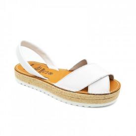 Sandale din piele naturala, AVARCA REVERIA Alb