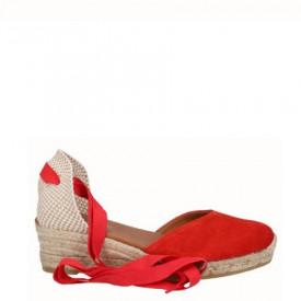 Sandale din piele naturala MERIVA Red