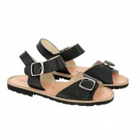 Sandale din piele naturala MINORQUINES BUCKLE Black