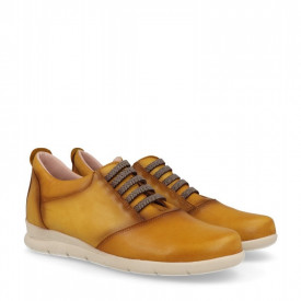 Sneakers din piele naturala KINDER Yellow