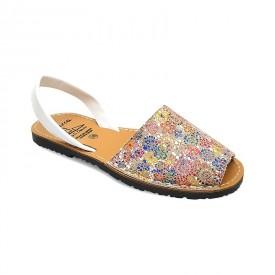 Sandale de dama din piele naturala, AVARCA FLOWERS