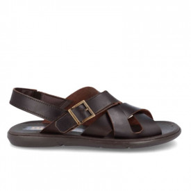 Sandale barbatesti din piele NACHO Brown