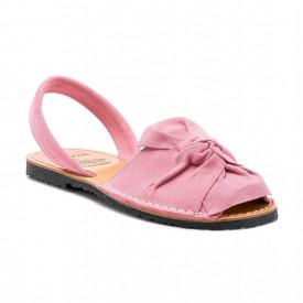 Sandale de dama din piele intoarsa, AVARCA BOW Pink