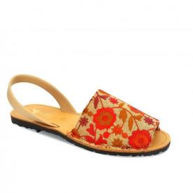Sandale de dama din piele naturala AVARCA RUSTIC Red
