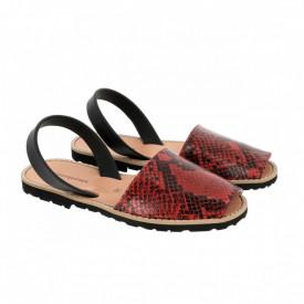 Sandale din piele AVARCA MINORQUINES Reptile Red