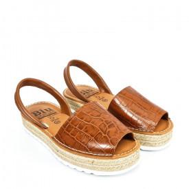 Sandale din piele AVARCA SERPENT Brown