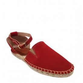 Sandale din piele intoarsa naturala CARLA Red
