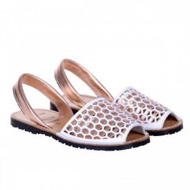 Sandale din piele naturala, AVARCA HEXAGONO bronz