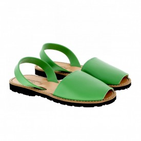 Sandale din piele naturala AVARCA MINORQUINES Green