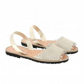 Sandale din piele naturala AVARCA MINORQUINES LIBREL Gold