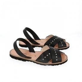 Sandale din piele naturala AVARCA MINORQUINES ROCK Black