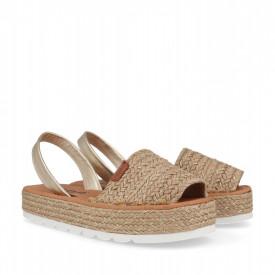 Sandale din piele naturala AVARCA ROSA Natural