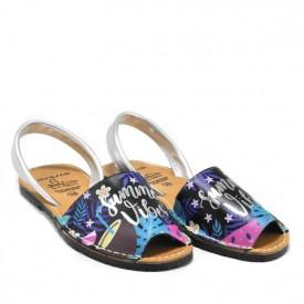 Sandale din piele naturala, AVARCA SUMMER VIBES Black