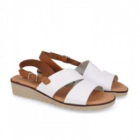 Sandale din piele naturala FOX White