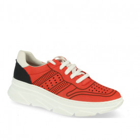 Sneakers din piele naturala ADELA Red