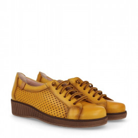 Sneakers din piele naturala NATURA Yellow