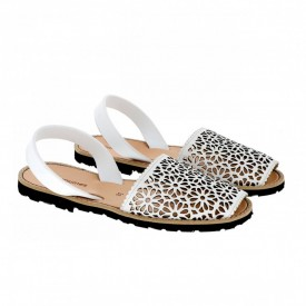 Sandale din piele naturala AVARCA MINORQUINES Laser White