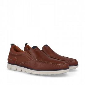 Pantofi sport din piele naturala SAUL Camel