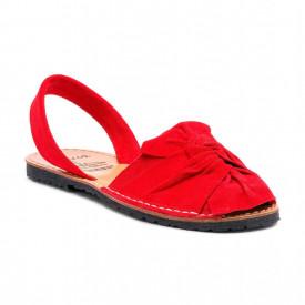 Sandale de dama din piele intoarsa, AVARCA BOW Red
