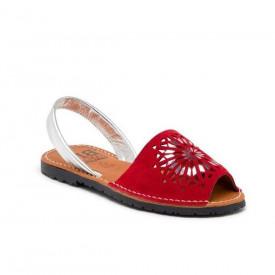 Sandale de dama din piele intoarsa, AVARCA INDIAN red
