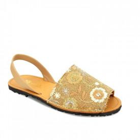 Sandale de dama din piele naturala AVARCA RUSTIC Beige