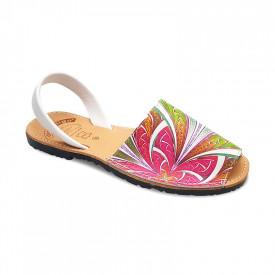 Sandale de dama din piele naturala, AVARCA SPIKES PINK
