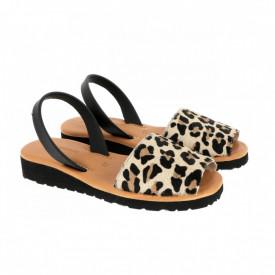 Sandale din piele AVARCA MINORQUINES Gel Leopard
