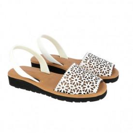 Sandale din piele MINORQUINES Gel LASER White