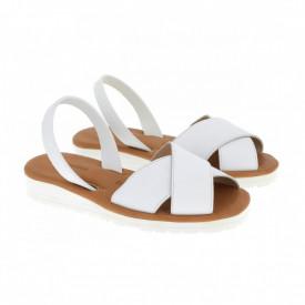 Sandale din piele MINORQUINES Gel MURO WHITE